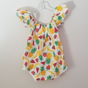 Fruit one piece with matching headband
